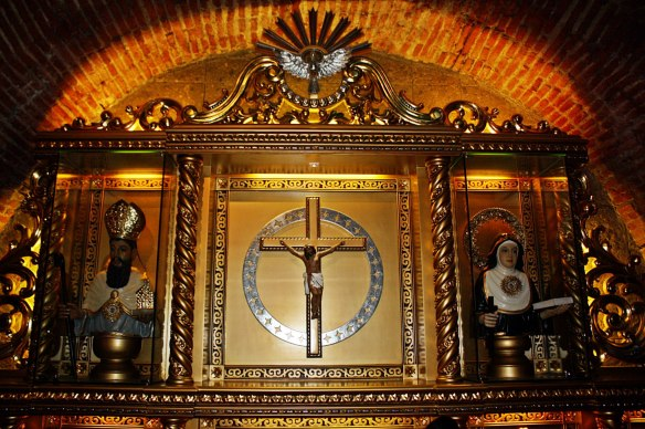 Reliquary for St. Augustine and St. Monica, St. Augustine Parish in Lubao, Pampanga (Photo credit: Kathy Robles)