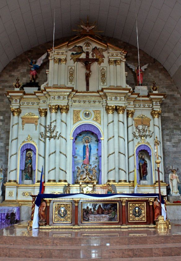 The main altar at the Immaculate Conception Parish