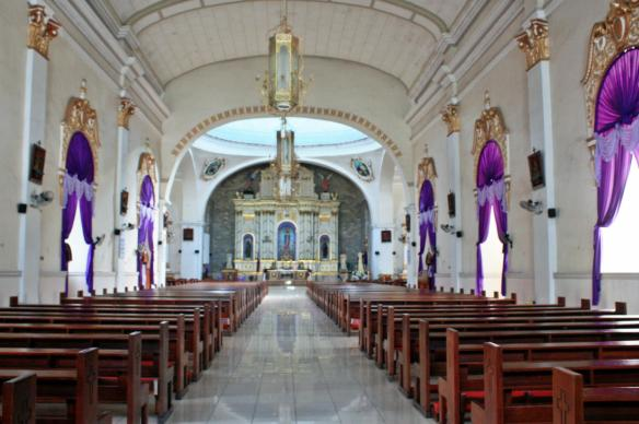 The immaculate interiors of Immaculate Conception Parish in Guagua (Photo Credit: Kathy Robles)